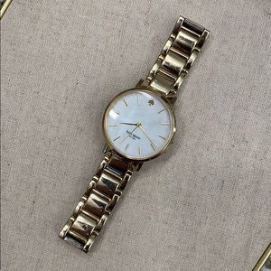 Kate Spade Gold Watch with Mother of Pearl Face